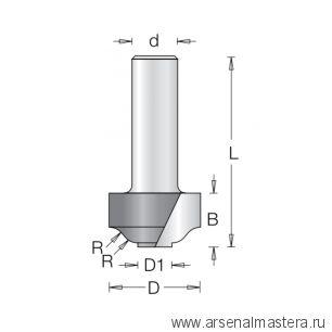 Фреза римский профиль и ступенька врезная DIMAR 30,2 x 15,1 х 53,2 х 12 R5,9 1473109
