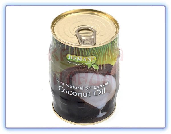 Масло Кокосовое в жестяной банке Coconut oil Hemani