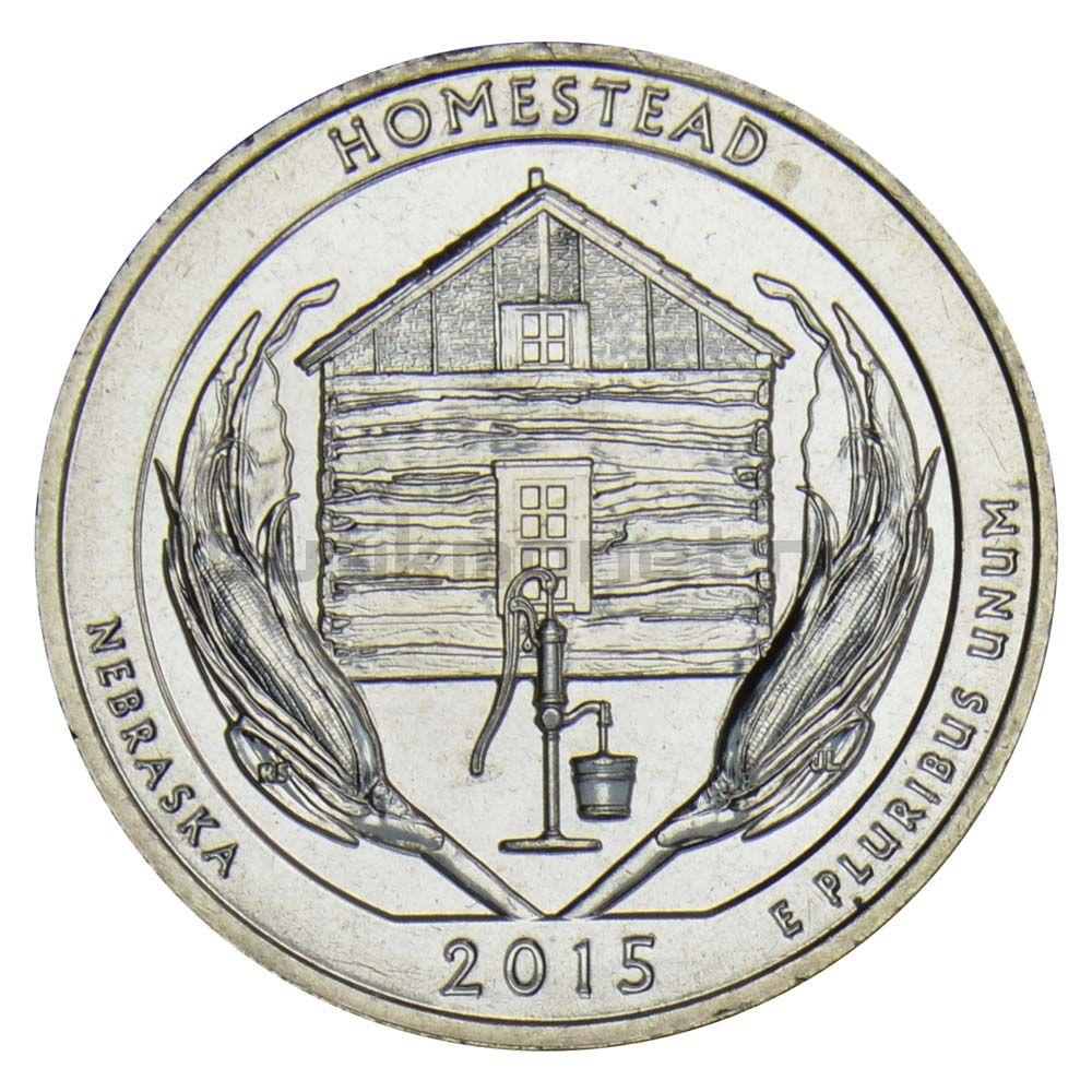 25 центов 2015 США Национальный монумент Гомстед S