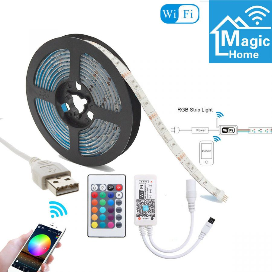 Огонек OG-LDL18 RGB светодиодная лента 1м (WI-FI,USB)