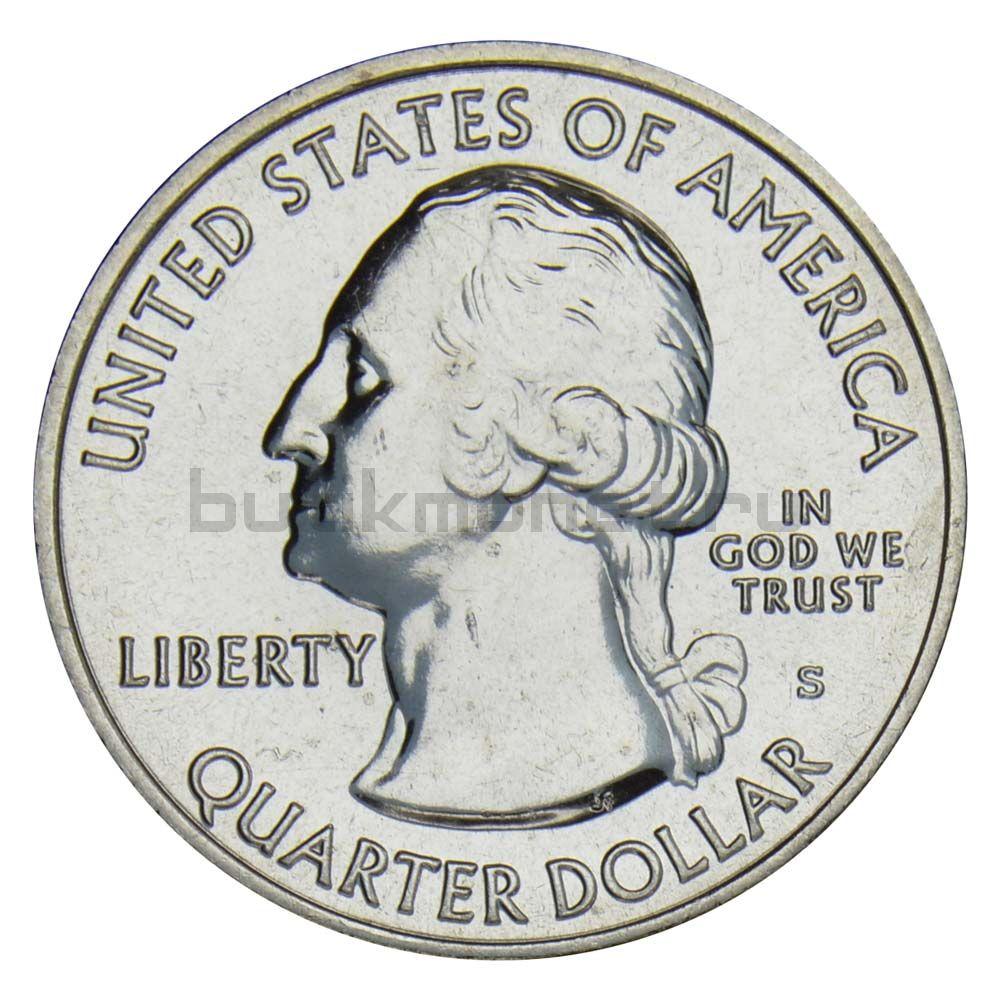 25 центов 2015 США Национальный исторический парк Саратога S