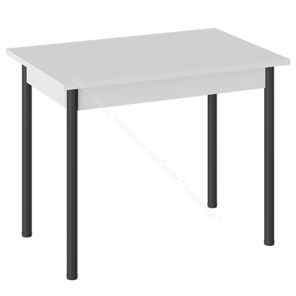 Стол «Родос» Тип 1 с опорой d40 (Черный муар/Белый)