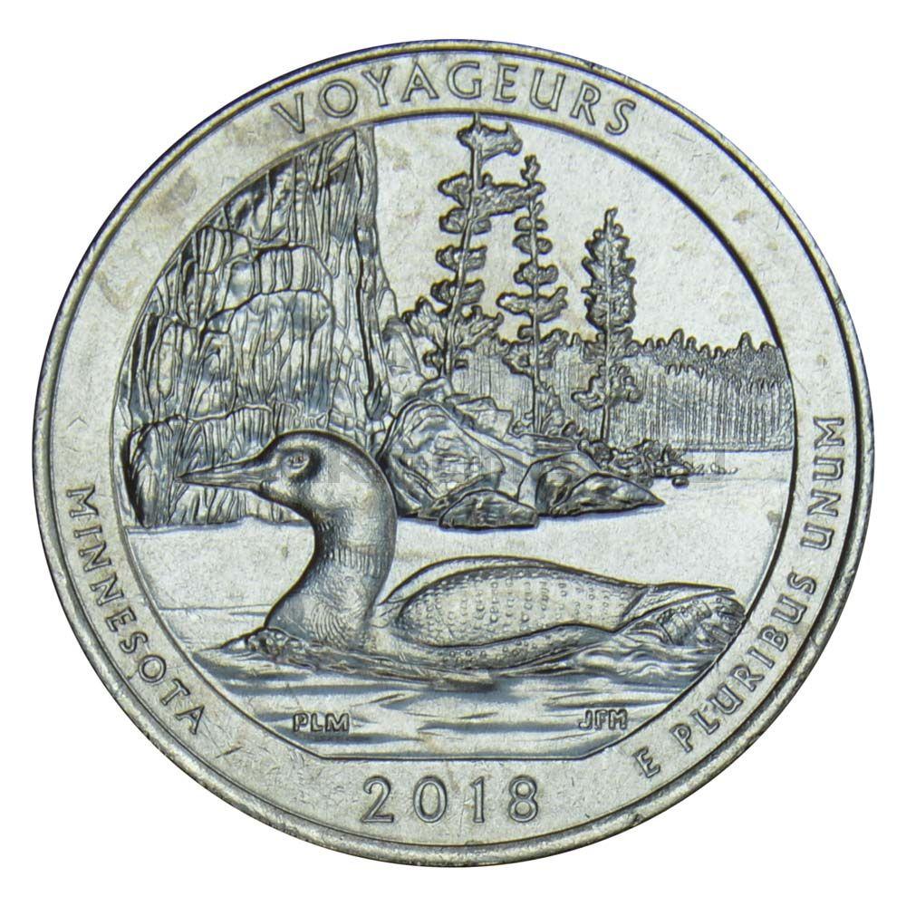 25 центов 2018 США Национальный парк Вояджерс P