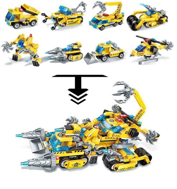 Комплект конструктора Blockformers Мегатрансмобиль из 8 штук