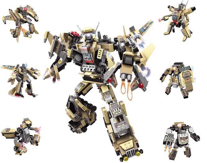 Комплект конструктора Blockformers Терра-транскоммандер из 6 штук