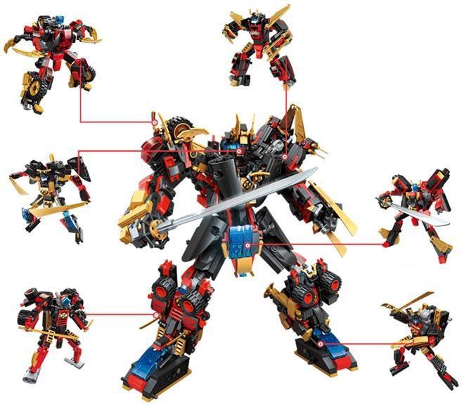 Комплект конструктора Blockformers Мегасамурай из 6 штук