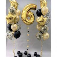Букет из гелиевых шаров с цифрой