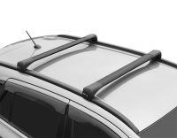 Багажник на крышу Toyota Fortuner II 2015-…, Lux Bridge, крыловидные дуги (черный цвет)