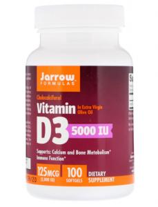 Jarrow Formulas Vitamin D3  5000 МЕ 100  капс