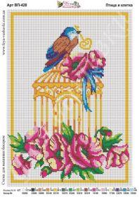 Фея Вышивки ВП-428 Птица и Клетка схема для вышивки бисером купить оптом в магазине Золотая Игла