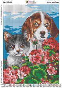 Фея Вышивки ВП-420 Котик и Собака схема для вышивки бисером купить оптом в магазине Золотая Игла