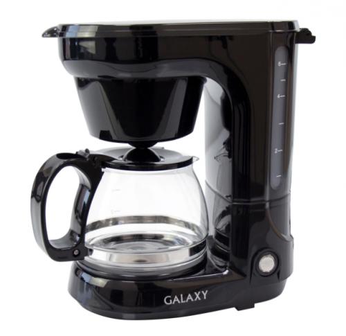 Кофеварка электрическая Капельная Galaxy GL 0701, черный