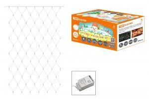 Сетка ул. SQ0361-0030 120LED, белый, 1,5х1,5м, 8 режимов, ул. прозр. провод, IP44 TDM