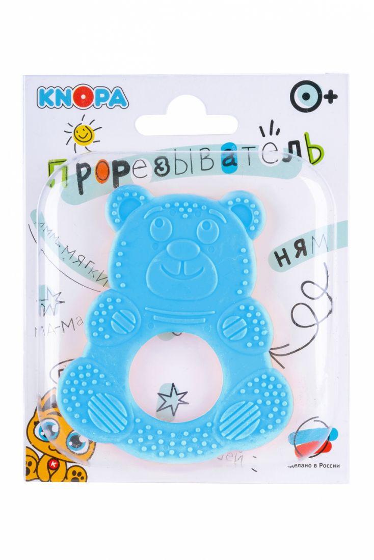 Прорезыватель KNOPA 80072 Мишутка, голубой