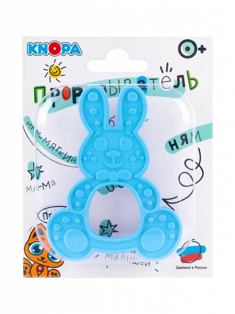 Прорезыватель KNOPA 80077 Зайка, голубой