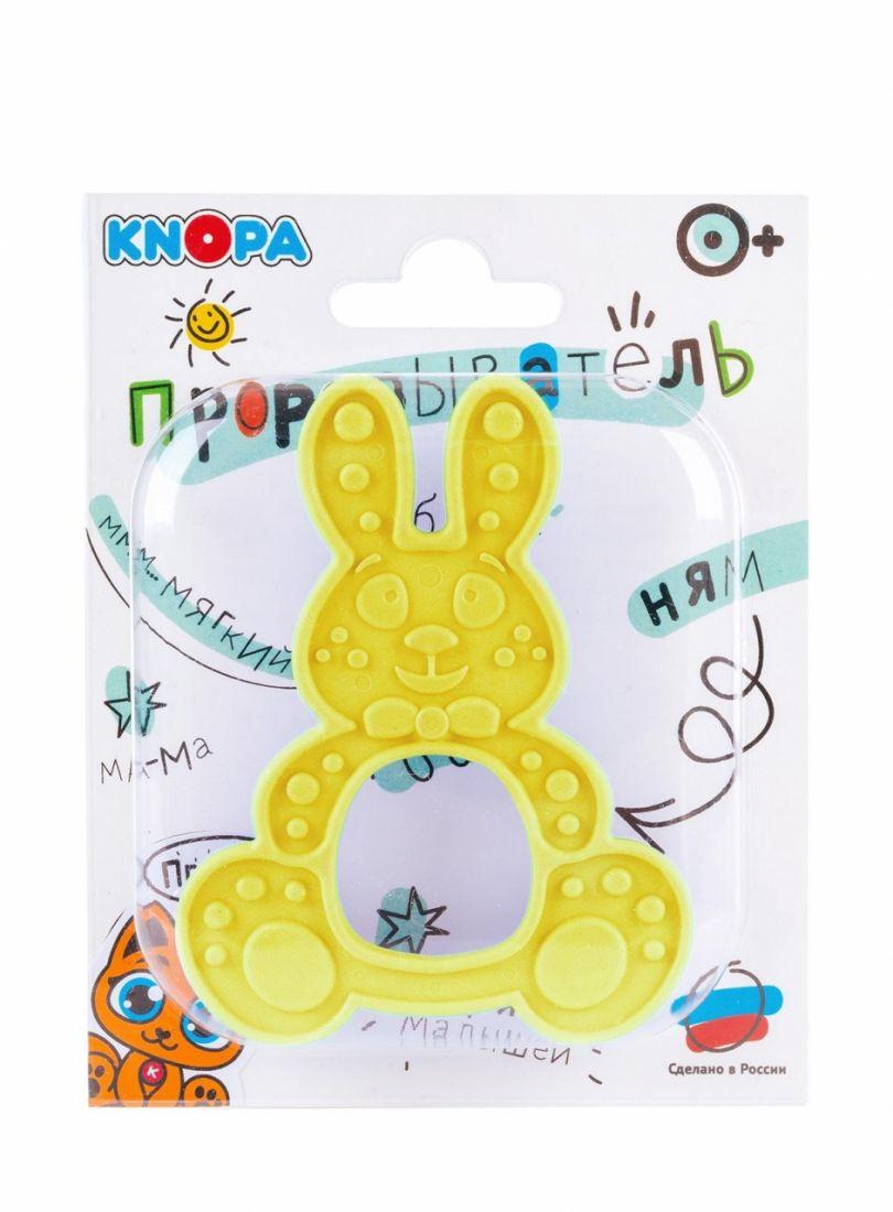 Прорезыватель KNOPA 80078 Зайка, желтый