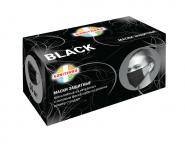 Маски одноразовые КОМПЛЕКТ 50 штук, 3-х слойные, черные