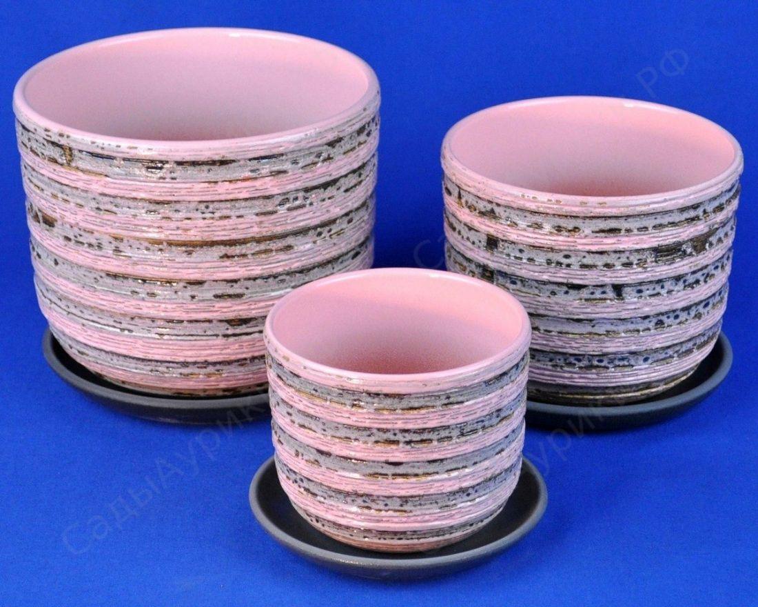 Горшок Кукушка розовый