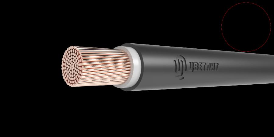 Провод одножильный ПуГВнг(А)-LS сечение 1.5мм черный для монтажа электрических цепей (метр)
