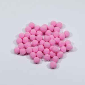 Помпоны, размер 15 мм, цвет 03 розовый (1уп = 50шт)