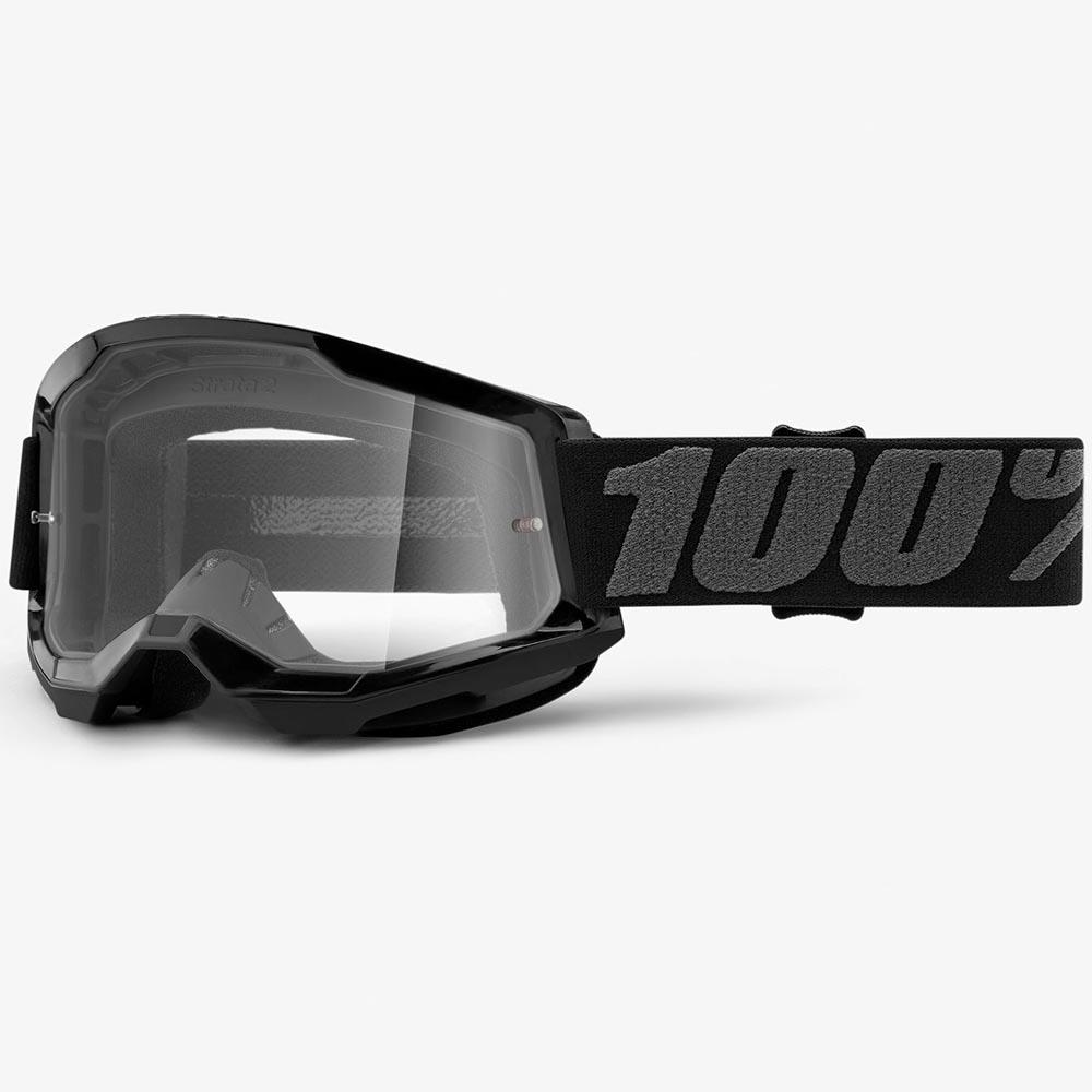 100% Strata 2 Black Clear Lens, очки