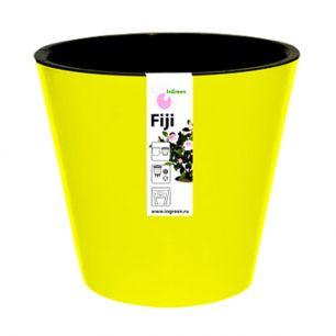 """Горшок для цветов """"Фиджи"""" d 160 мм/1,6 л желтый """"Пластик репаблик"""" ING1553ЖЛТ"""