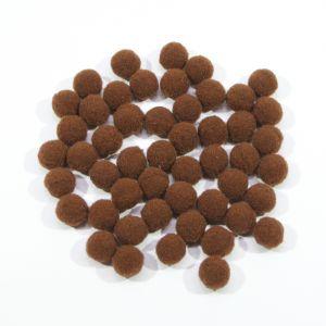 Помпоны, размер 15 мм, цвет 24 коричневый (1уп = 50шт)