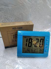 Часы электронные 1856 (+темп.,дата,буд.) на батар.