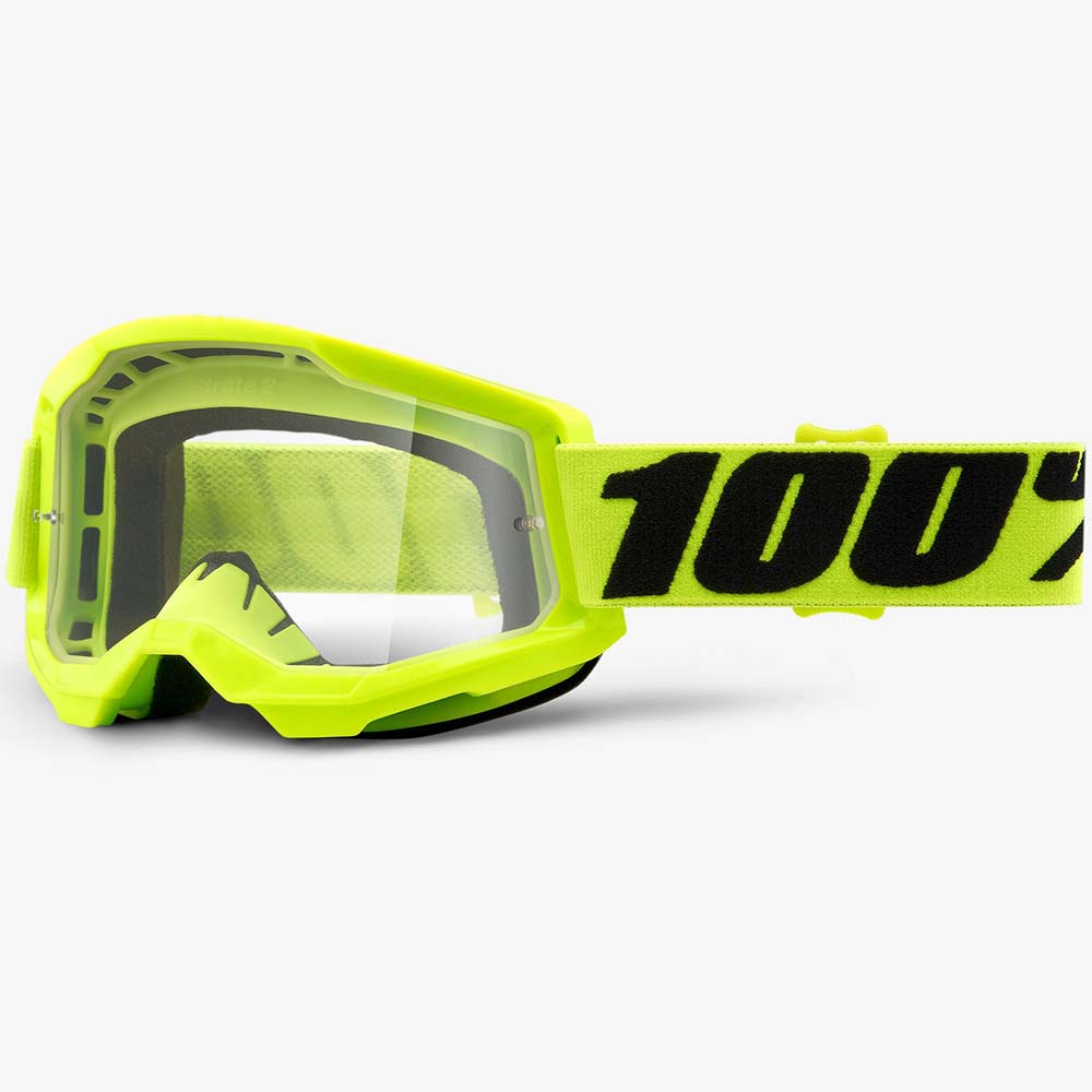 100% Strata 2 Fluo Yellow Clear Lens, очки