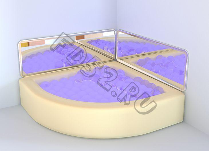 Интерактивный сухой бассейн угловой 1500х1500х500мм RG120