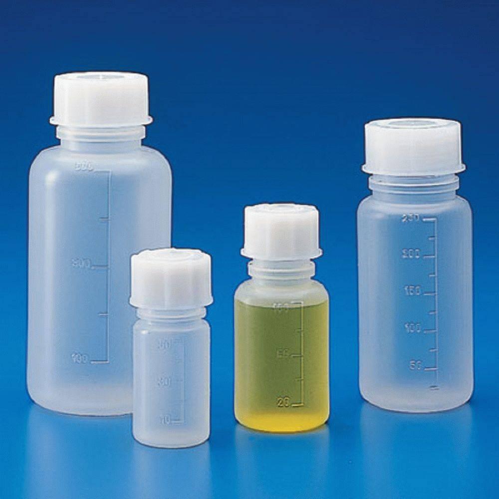 Банка широкогорлая для реактивов, с делениями, п/п 1000 мл (белая крышка)  (упаковка 17 шт)