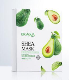 Увлажняющая ночная маска -пуддинг для лица на основе авокадо  «BIOAQUA».(19842)