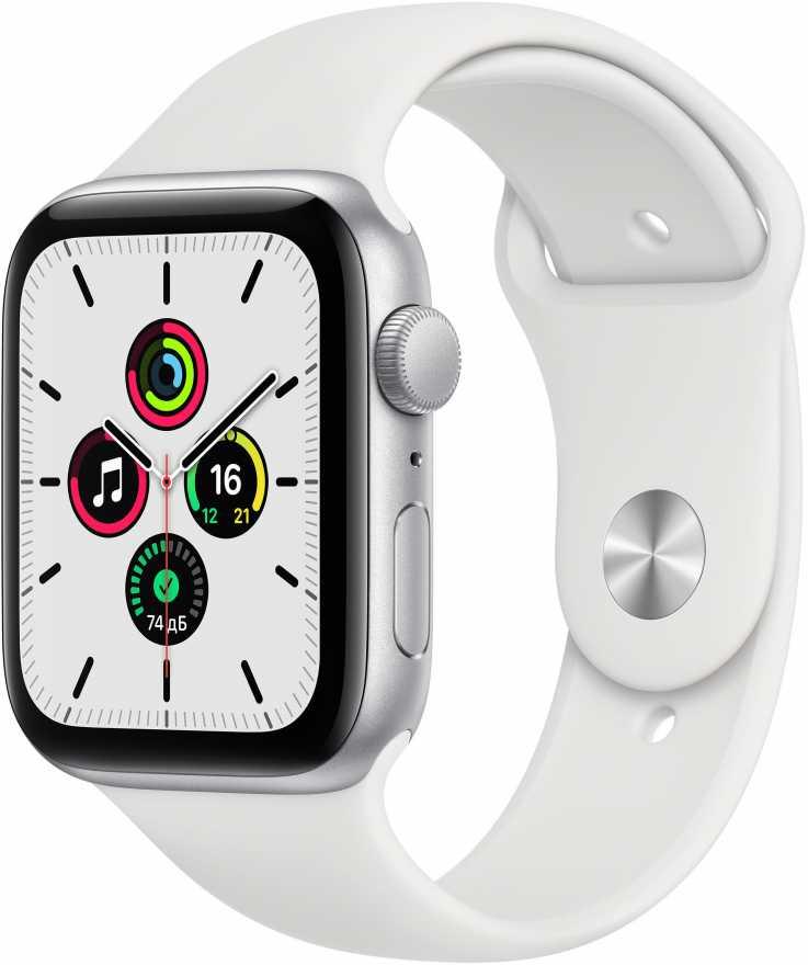 Умные часы Apple Watch SE GPS 44mm Aluminum Case with Sport Band Серебристый
