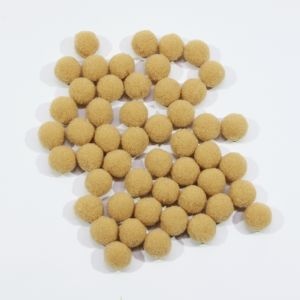 Помпоны, размер 15 мм, цвет 31 светло-коричневый (1уп = 50шт)