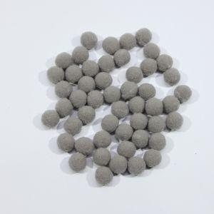 Помпоны, размер 15 мм, цвет 34 серый (1уп = 50шт)