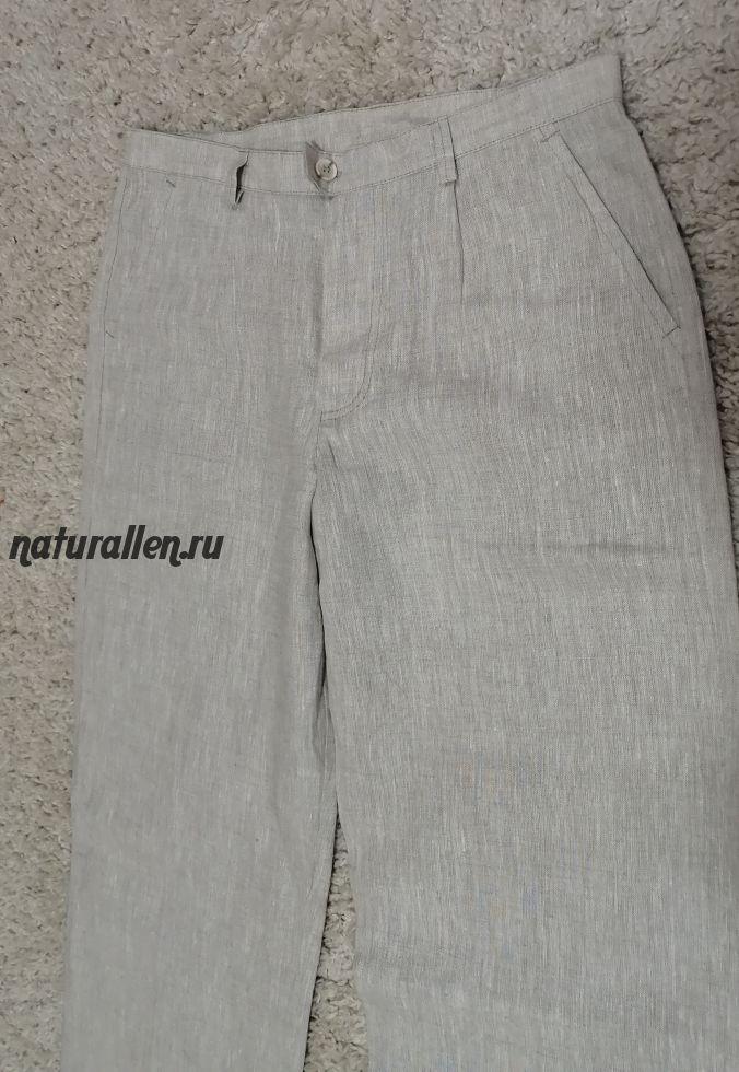 Женские брюки из 100% льна ,44 рр