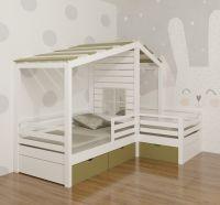 Кровать Домик угловой Fairy Land №5 (для двоих детей)