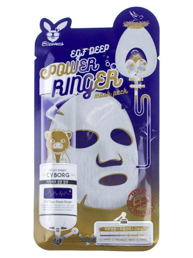 Тканевая маска для активной регенерации эпидермиса Elizavecca EGF Deep Power Ringer Mask Pack 23ml