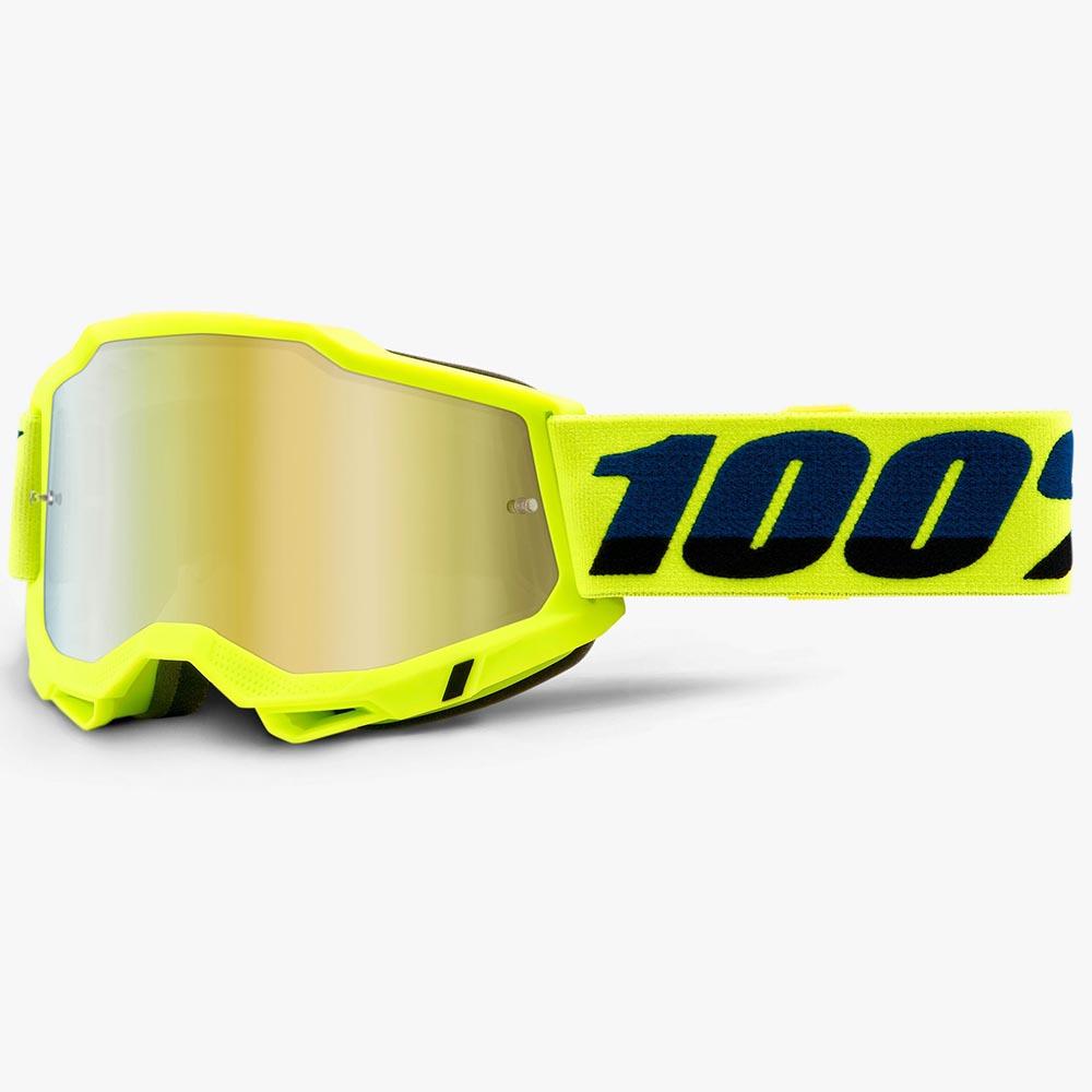 100% Accuri 2 Fluo Yellow Mirror Gold Lens, очки