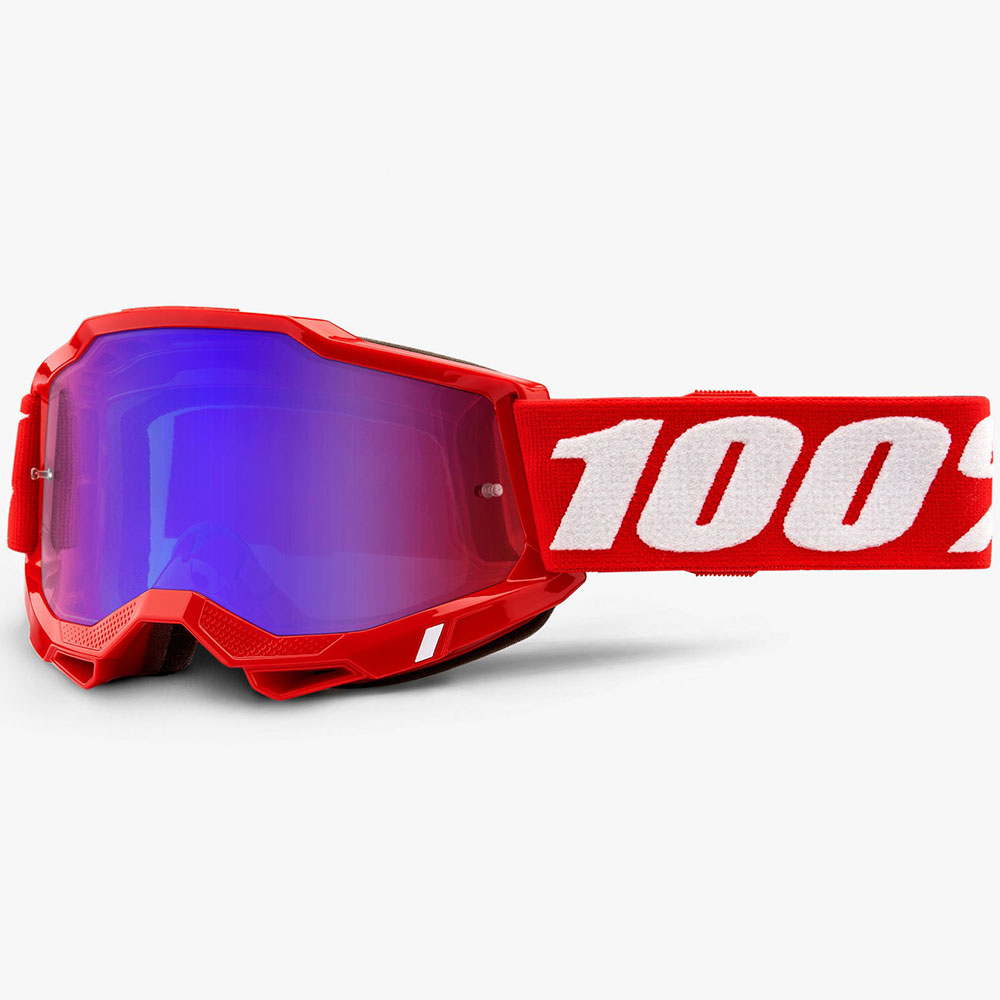 100% Accuri 2 Neon Red Mirror Red/Blue Lens, очки