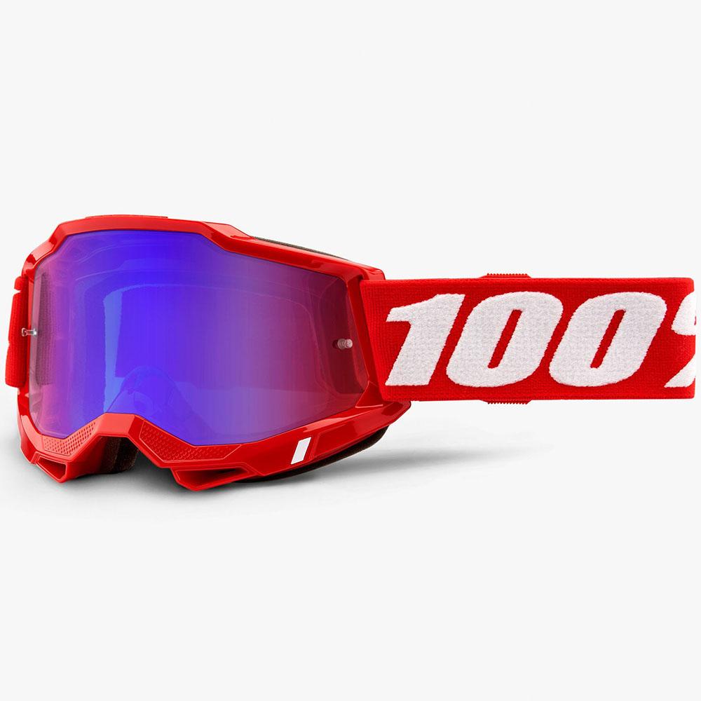 100% Accuri 2 Neon Red Mirror Red/Blue Lens, очки