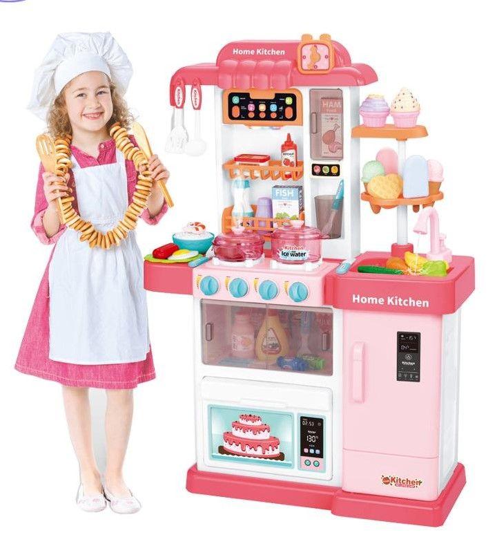 WD-P35 Детская кухня игровая Home Kitchen с водичкой и настоящим паром 76 см.