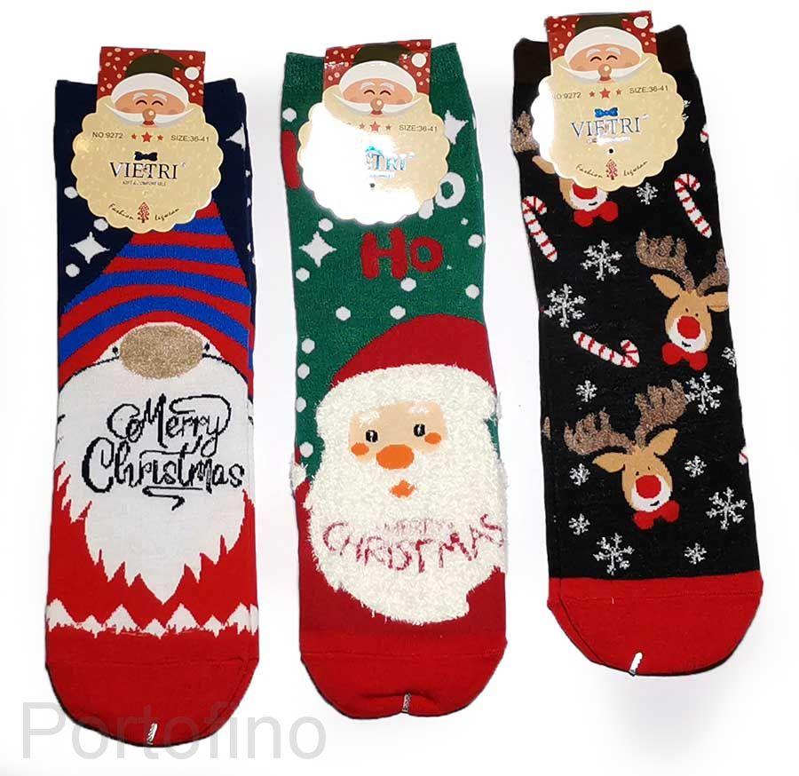 Носки новогодние женские (хлопок)