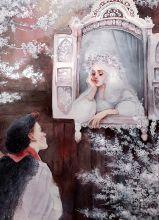 Postcard Red maiden
