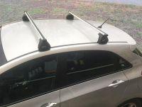Багажник на крышу Ford Focus 2, Евродеталь, аэродинамические дуги