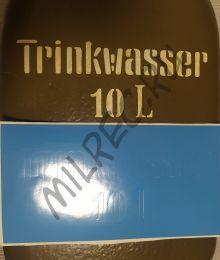 Трафарет для немецкого бидона Trinkwasser 10 L (комплект из 4 штук)