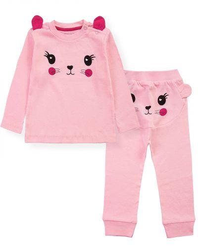 """Костюмчик для новорожденных Bonito kids """"ZOO"""" розовый"""