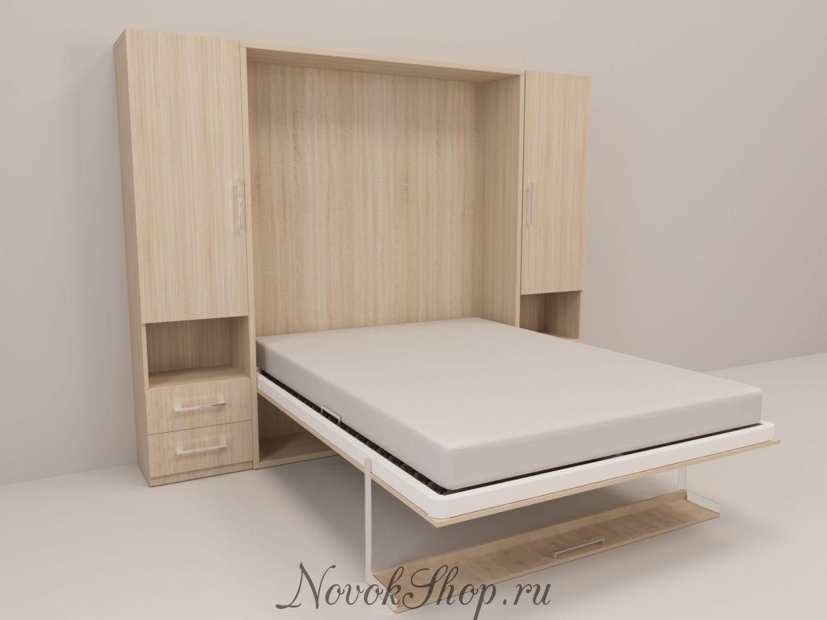 Шкаф-кровать с 2-мя пеналами