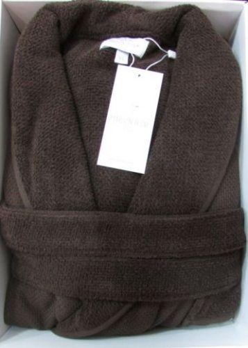 Мужской махровый халат Quattro коричневый