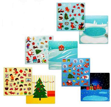 Набор с многоразовыми наклейками «Новый Год»